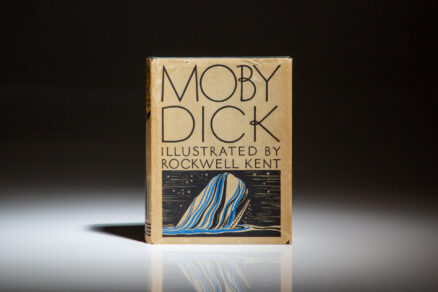 First trade edition of Moby Dick or The Whale by Herman Melville, illustrated by Rockwell Kent.