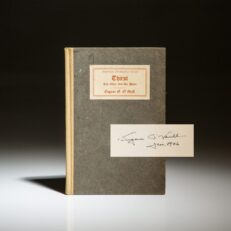 Signed first edition of Thirst by Eugene O'Neill.