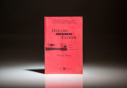 The Unrevised Proof Copy, or Galley Proof, of Dreams From My Father by Barack Obama.