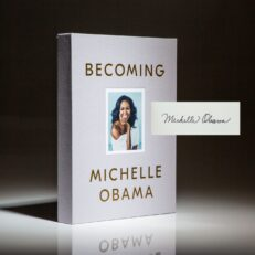 First Deluxe Edition of Becoming by Michelle Obama, signed by the author.