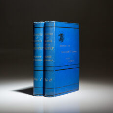 First edition of the Memoirs of General William T. Sherman, in scarce blue cloth binding.