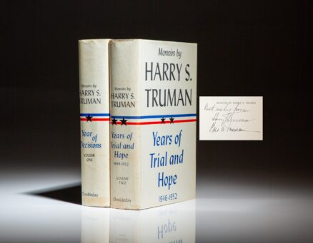 Memoirs by Harry S. Truman, signed by President Harry Truman and First Lady Bess Truman.