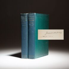 First edition of Theodore Roosevelt and His Time, signed by the author Joseph Bucklin Bishop.