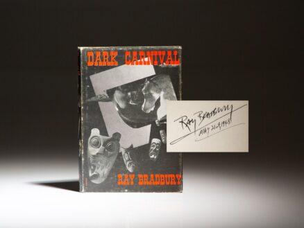 Signed first edition of Dark Carnival by Ray Bradbury.