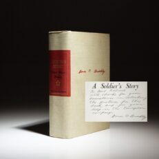 Signed limited edition of A Soldier's Story by Omar N. Bradley, with presentation inscription to Colonel Bertram Kalisch, his chief pictorial officer and photographer of the Japanese surrender aboard the U.S.S. Missouri in World War II.