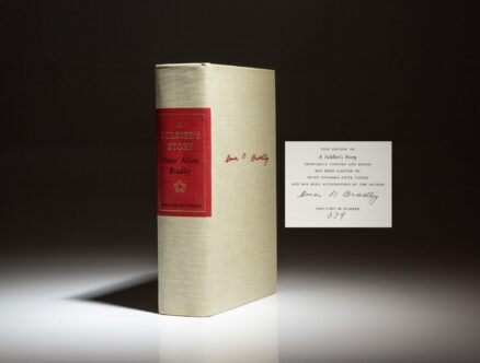 Signed limited edition of A Soldier's Story by Omar N. Bradley, with presentation inscription by General Bradley.