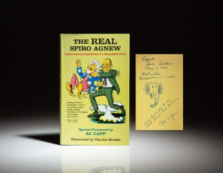 """The Real Spiro Agnew, inscribed by Vice President Spiro Agnew to his infamous """"Bag Man,"""" Bud Hammerman. Additionally signed by the editor, James Calhoun and illustrator, Charles Brooks."""