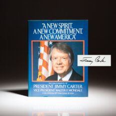 First edition of the Inaugural Book of President Jimmy Carter, signed on the title page.