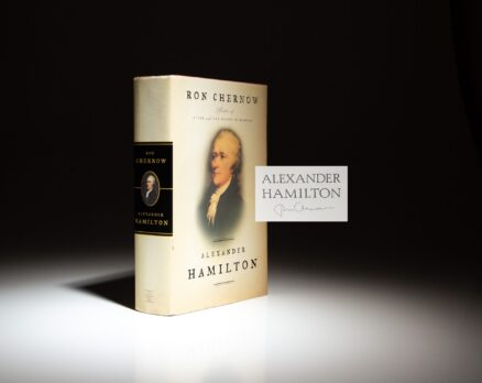 Signed first edition of Alexander Hamilton by Ron Chernow.