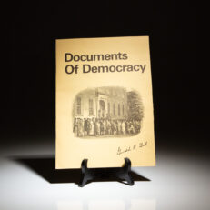 Documents of Democracy, a collection of important documents of the United States, signed by President Gerald R. Ford.