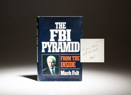 First edition of The FBI Pyramid, signed by Mark Felt, the notorious Deep Throat of Watergate.