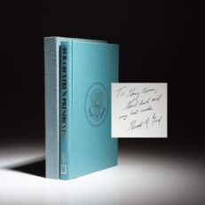 Our Country's Presidents by Frank Freidel, signed by President Gerald R. Ford.