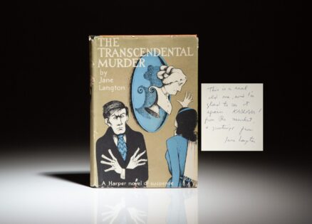 Signed first edition of The Transcendental Murder by Jane Langton.