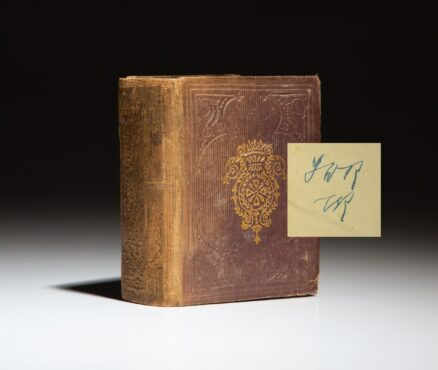 From the personal library of Franklin and Eleanor Roosevelt, the Little Book of English History and Biography, signed by Eleanor Roosevelt.