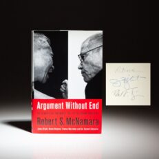 Signed first edition of Argument Without End: In Search of Answers to the Vietnam Tragedy by Secretary of Defense Robert S. McNamara, Professor James G. Blight and Historian Robert K. Brigham