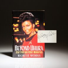 Signed first edition of Beyond Uhura by Nichelle Nichols.