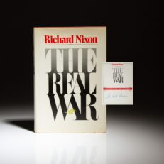 First edition of The Real War, signed by President Richard Nixon on bookplate.