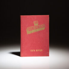 First edition, early issue of The Fountainhead by Ayn Rand.