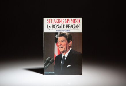 An advance reading copy of Speaking My Mind by President Ronald Reagan.