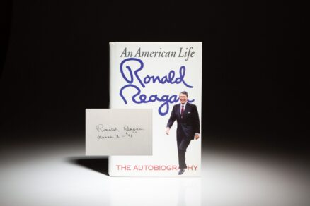 First edition of An American Life, inscribed by President Ronald Reagan in 1993.