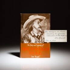 Signed first edition of The Lives and Legends of Buffalo Bill by Don Russell.