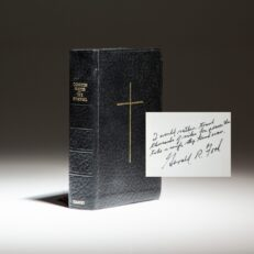 The Book of Common Prayer, with an exceptional inscription by President Gerald R. Ford.