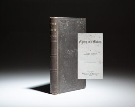 First edition of The Church and Slavery by Albert Barnes.