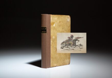 First edition of Tales Of Travels West Of The Mississippi by Solomon Bell, published in 1830, the first juvenile book about the region west of the Mississippi and specifically, the Lewis and Clark Expedition. This copy is lacking the map.