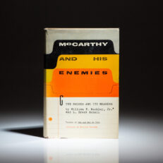 First edition of McCarthy and His Enemies by William F. Buckley, Jr., his second book.