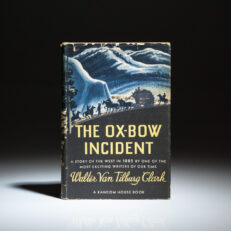 Second printing of The Ox-Bow Incident by Walter Van Tilburg Clark.