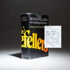 The Rockefellers: An American Dynasty by Peter Collier and David Horowitz, from the personal library of First Lady Mamie Eisenhower.