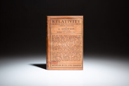 First English edition of Albert Einstein's Special & General Theory of Relativity, in publisher's scarce dust jacket.
