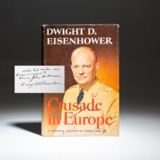 Crusade in Europe by Dwight D. Eisenhower, inscribed to Major General John W. Persons.