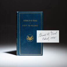 Signed copy of Gerald Ford's Visit to Poland.