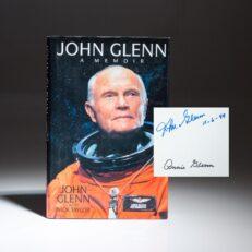 First edition of John Glenn: A Memoir, signed by Senator John Glenn and his wife, Annie Glenn.