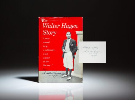 Signed first edition of The Walter Hagen Story.