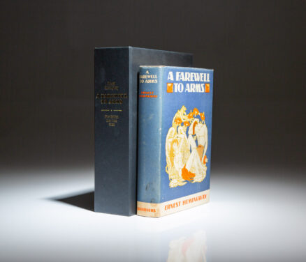 First edition of A Farewell To Arms by Ernest Hemingway, in near fine dust jacket.
