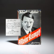 Presentation copy of Mein Kampf, inscribed by German General Hellmuth Pfeifer.