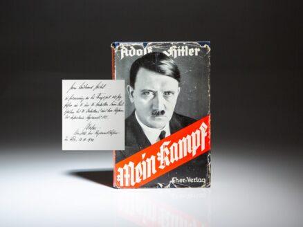 Presentation copy of Mein Kampf, inscribed by German General Hellmuth Pfeifer.