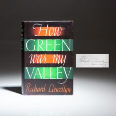 Signed first edition of How Green was my Valley by Richard Llewellyn.