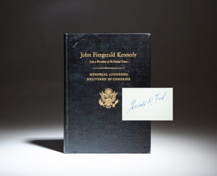 Memorial Tributes to the late John F. Kennedy, signed twice by President Gerald R. Ford.
