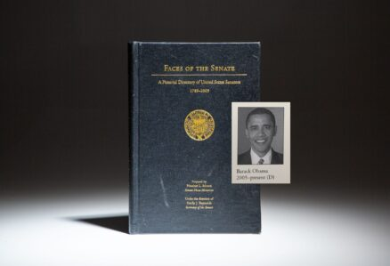 The Faces Of The Senate: A Pictorial Directory of United States Senators 1789 - 2005, featuring the new senator from Illinois, Barack Obama.
