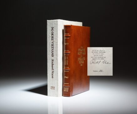 The Presidential Edition of No More Vietnams, signed by President Richard Nixon.