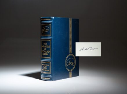 Deluxe limited edition of The Memoirs of Richard Nixon, from the author's personal copies for distribution.