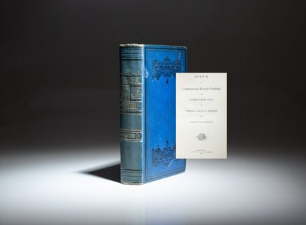 First edition of the Memoir of Commodore David Porter, a biography written by his son, Admiral David D. Porter and inscribed by Admiral Porter's son.