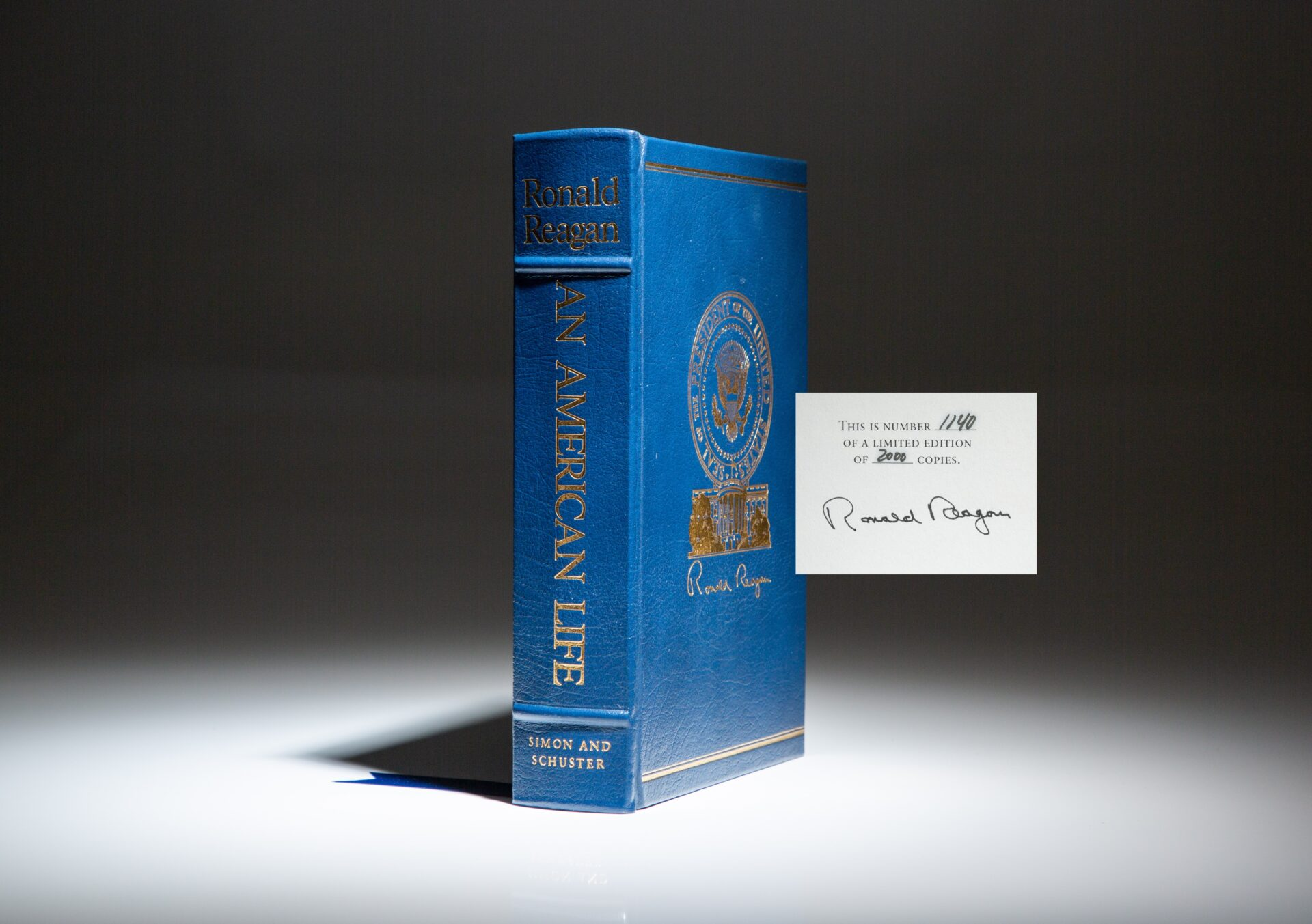 Signed limited edition of An American Life by President Ronald Reagan.
