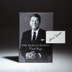 First printing of The Reagan Diaries signed by First Lady Nancy Reagan.