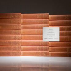 The Works of Theodore Roosevelt: Memorial Edition, from a limited edition set, signed by Edith Kermit Roosevelt. The complete 24 Volume Set.