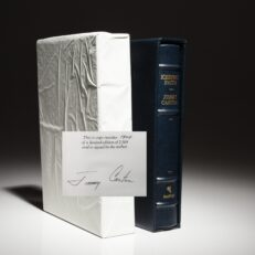 Limited edition of Keeping Faith, signed by President Jimmy Carter.
