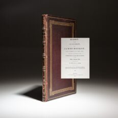 First edition of John Quincy Adams' Eulogy for the fifth president of the United States, James Monroe.
